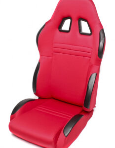 Sportsko sjedalo TA Technix – crveno, alcantara, podesivo, desno