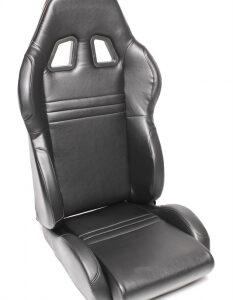 Sportsko sjedalo TA Technix – crno, sintetička koža, podesivo, lijevo