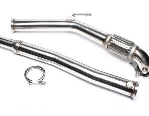 """Odvodna cijev od nehrđajućeg čelika TA Technix za VAG motore 3 """"/ 76 mm dovodna cijev, 2-dijelni set"""